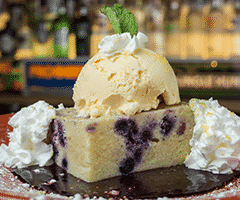 Electric Blueberry Lemonade Bread Pudding