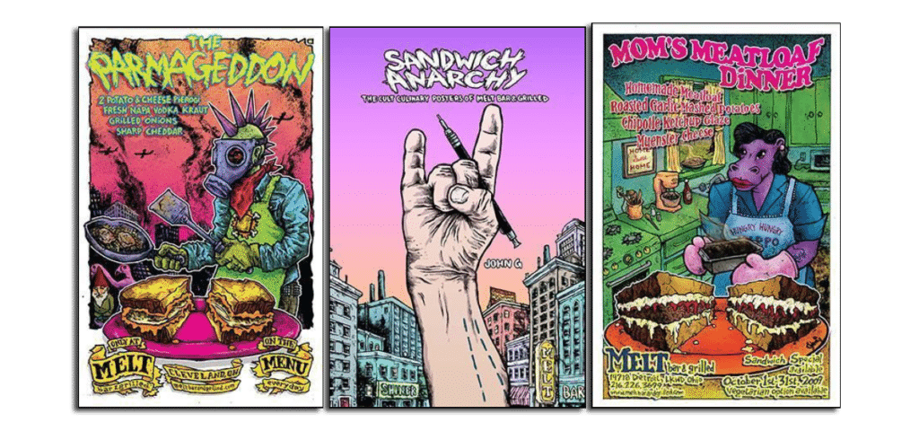 1984 PUBLISHING ANNOUNCES JOHN G'S Sandwich Anarchy: The Cult Culinary Posters of Melt Bar & Grilled