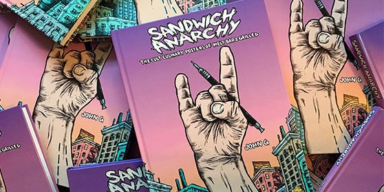 Book Releases at Melt Independence and Short North for John G's Sandwich Anarchy: The Cult Culinary Posters of Melt Bar and Grilled