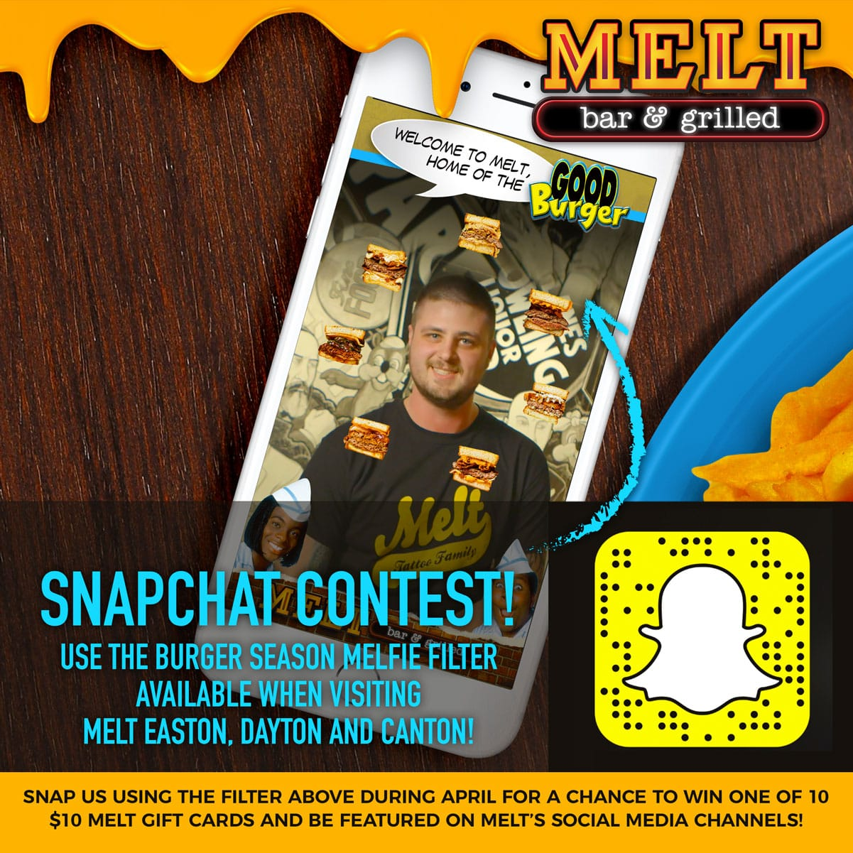 Melt is Celebrating Old Skool Burger Season With a Snapchat Contest!