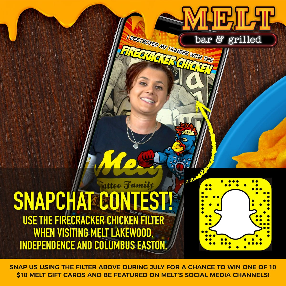 Melt is Celebrating July with a Snapchat Contest!