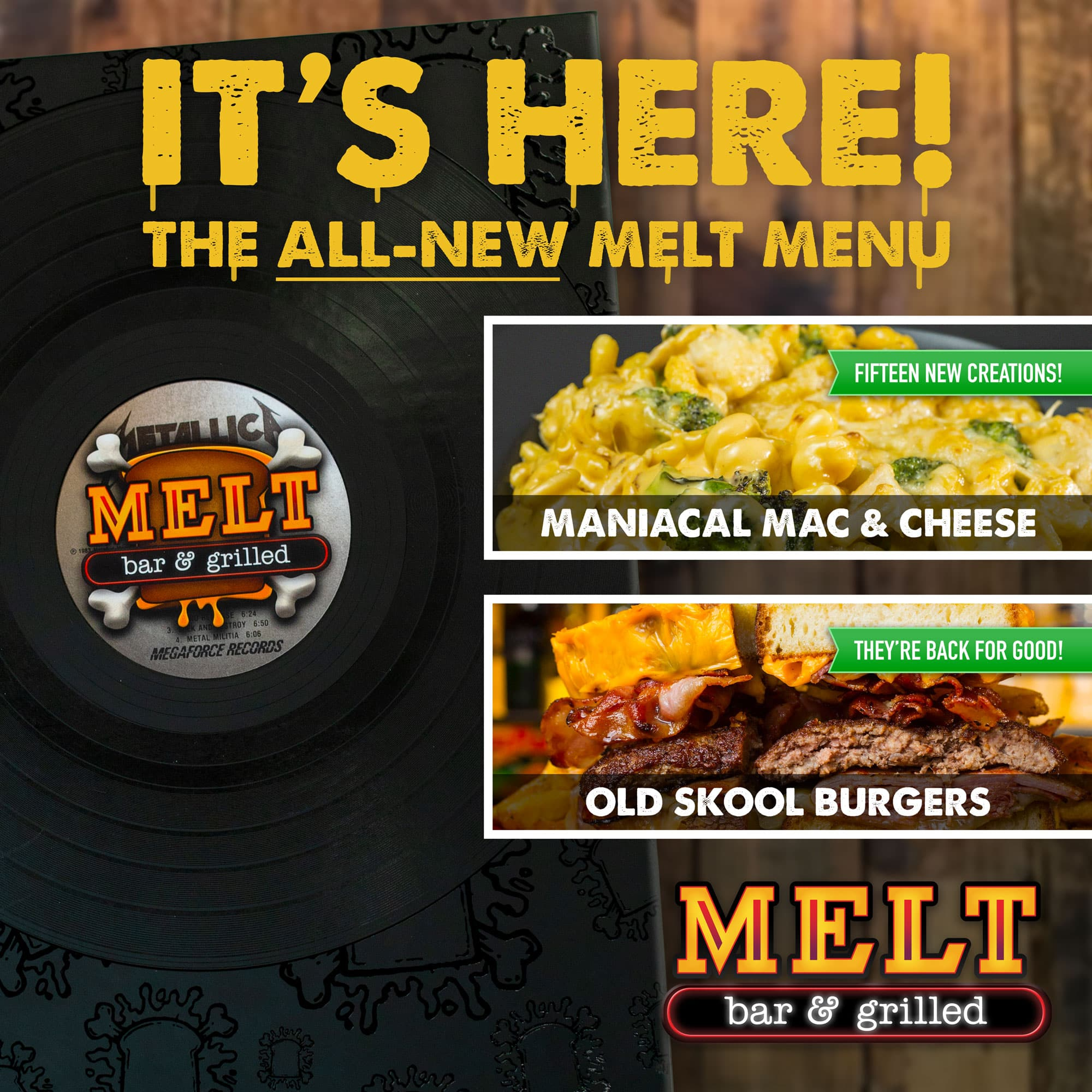 New Melt Bar and Grilled Menu Launches October 1st!