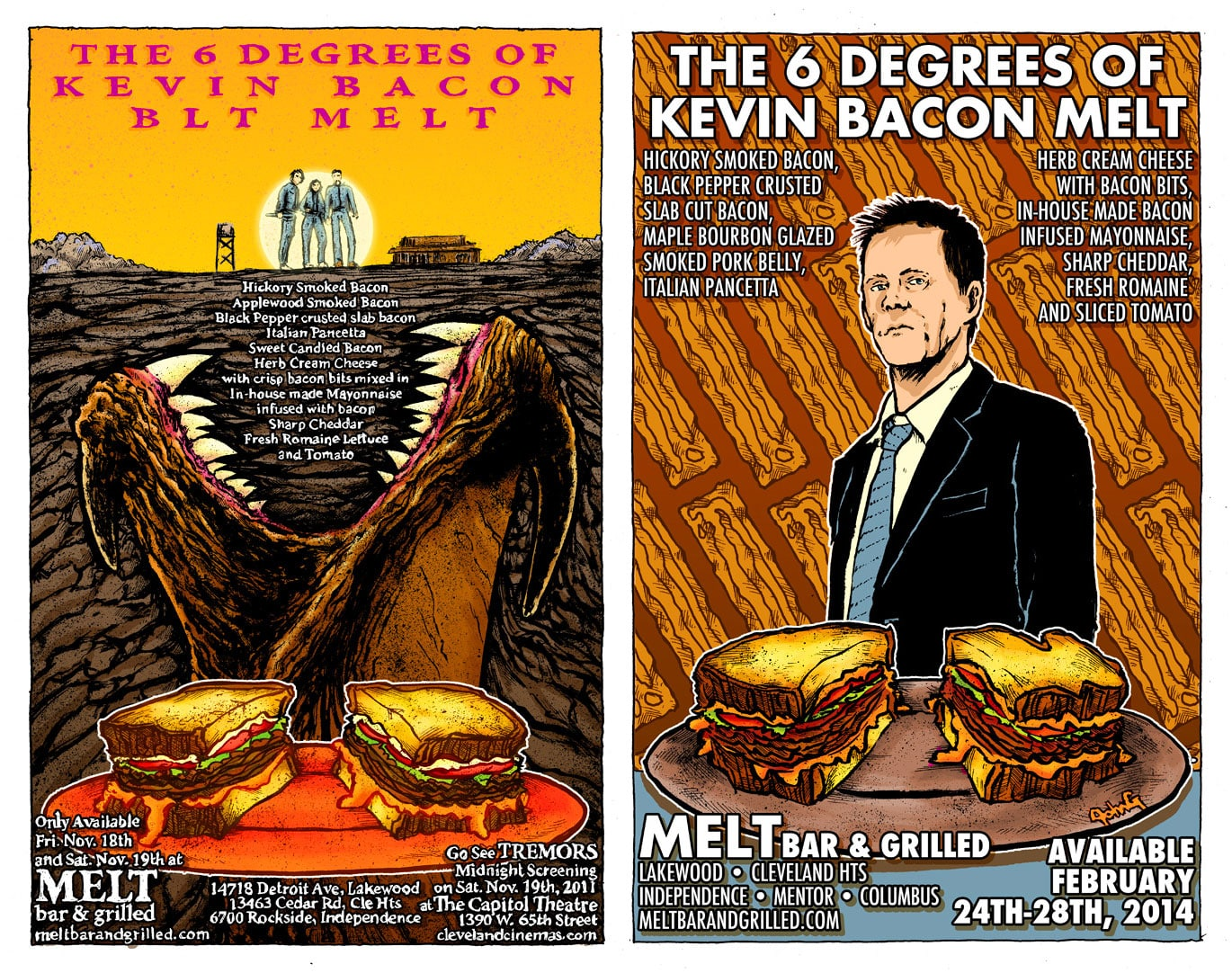 6 Degrees of Kevin Bacon Posters