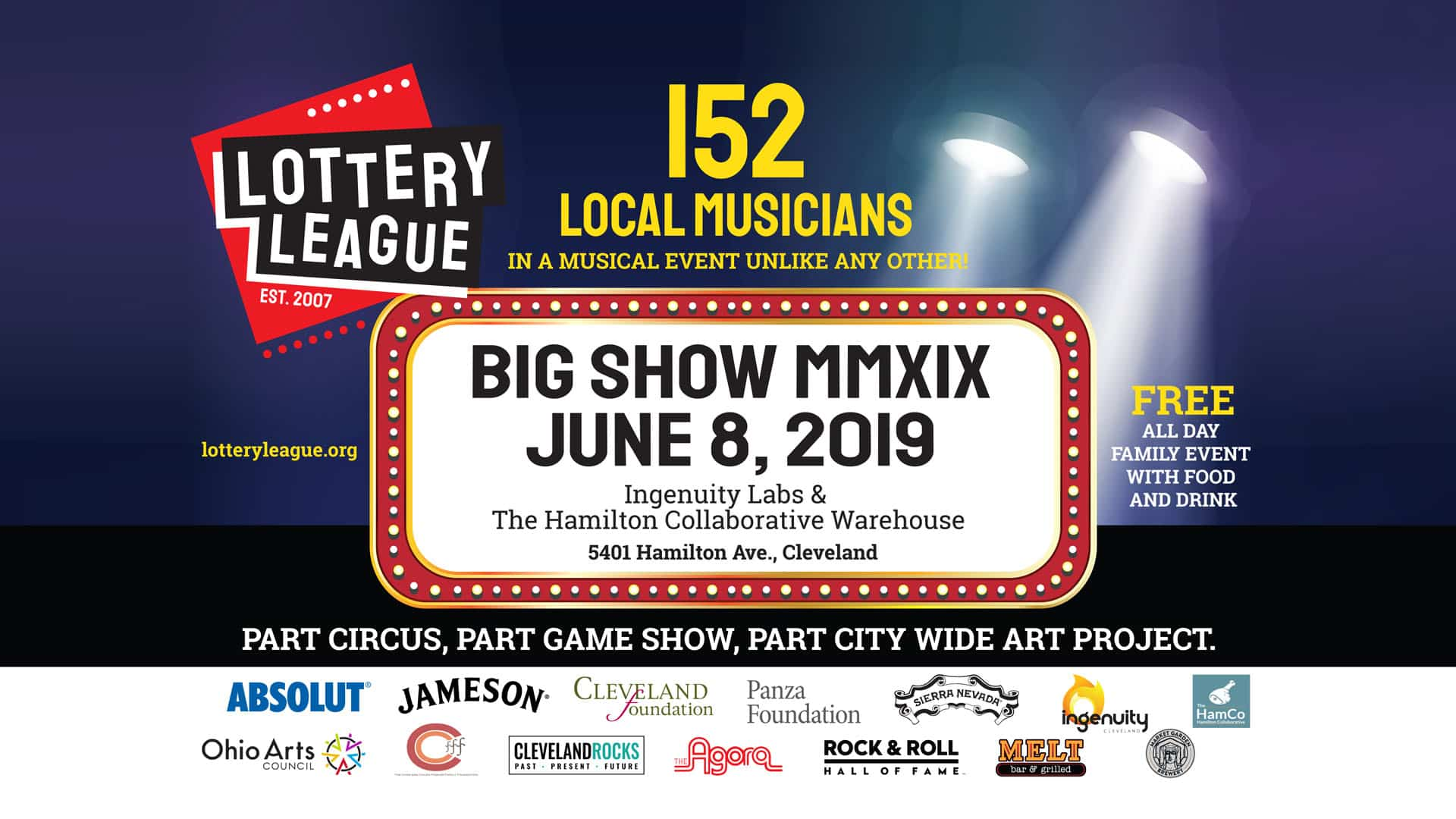 Cleveland Lottery League Big Show MMXIX - Melt Bar and Grilled
