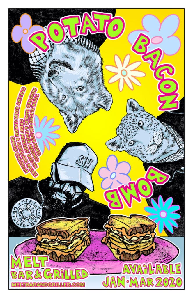 Potato Bacon Bomb John G Poster