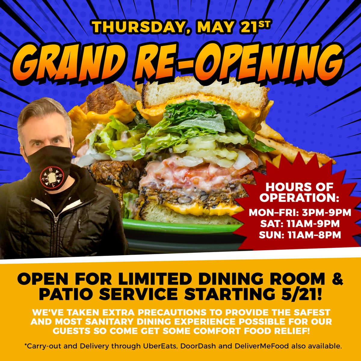 Melt Re-Opening for Dining Room and Patio Service Starting Thursday, May 21st!