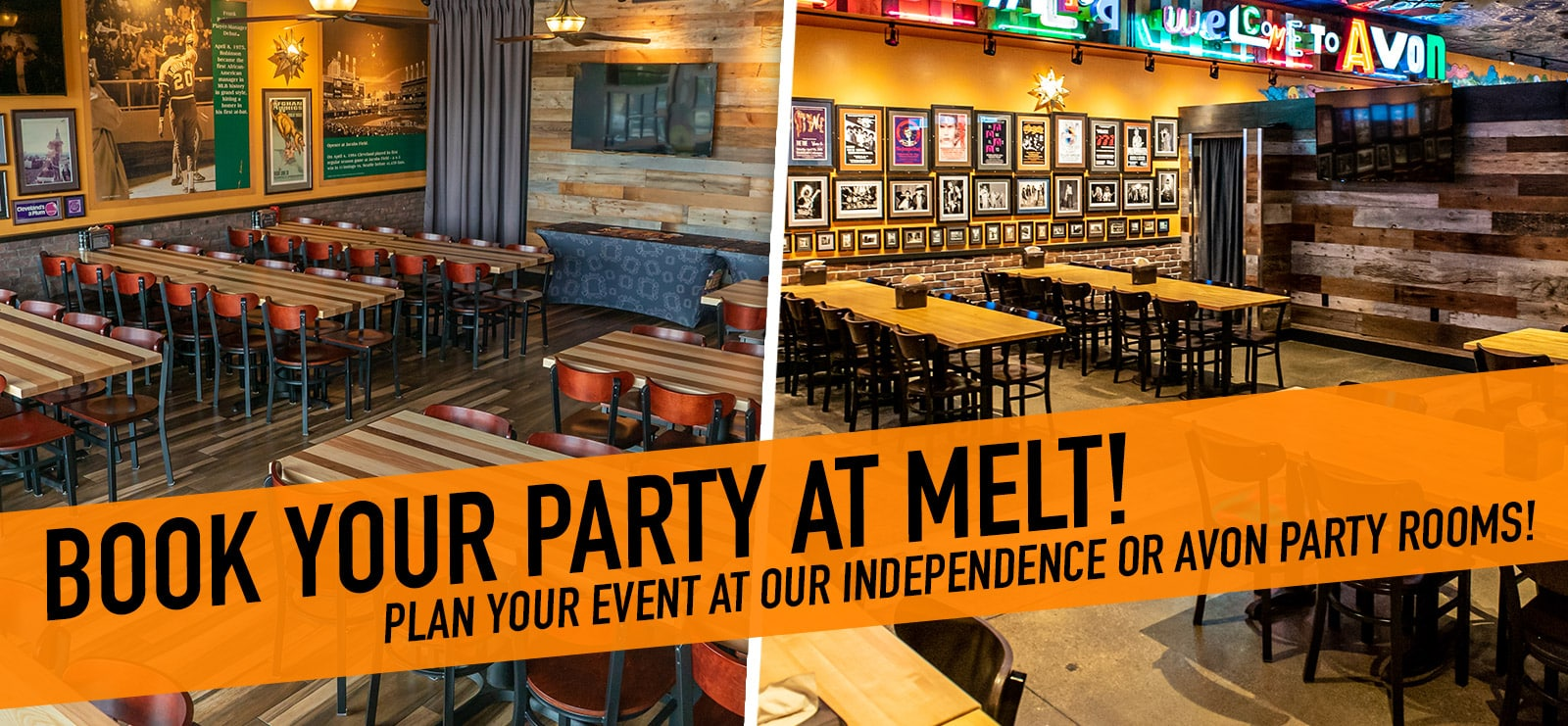 Book Your Party at Melt!