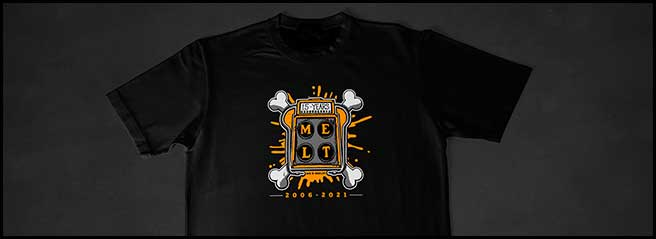 Celebrate 15 years of grilled cheese excellence with 30% off all Melt merch!